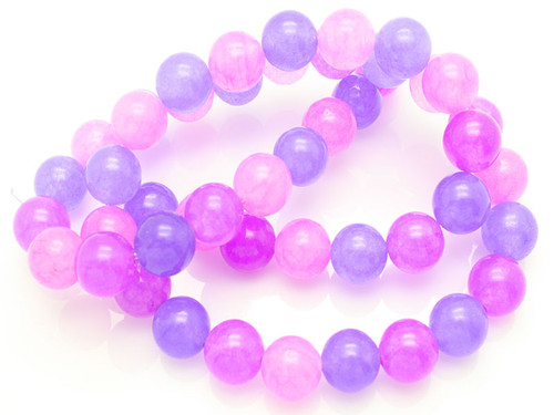 """6mm Mix Purple Jade Round Beads 15.5"""" Natural Dyed [6x7]"""