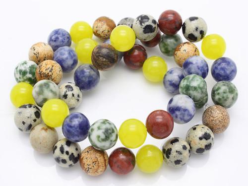 """8mm Mix Stone Round Beads 15.5"""""""