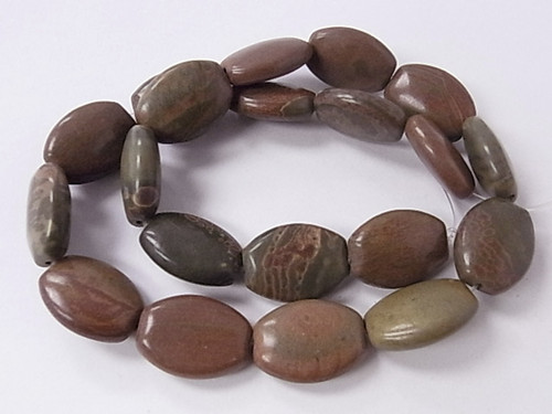 """15x20mm Mexican Agate Oblong Beads 15.5"""""""