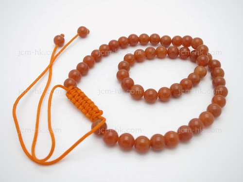 """6mm Red Aventurine Power Beads Necklace 14""""~18"""" [e3183]"""