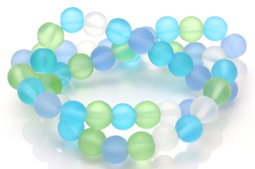 "4mm Mix Light Quartz Round Beads 15.5"" dyed [4x10]"