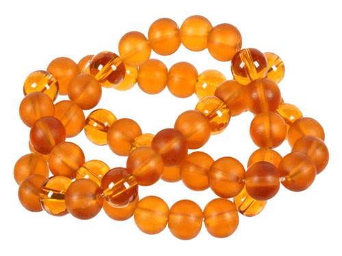"4mm Polish & Matte Topaz Round Beads 15.5"""