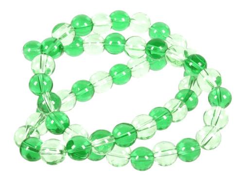 "4mm Dark & Light Green Quartz Round Beads 15.5"" dyed"