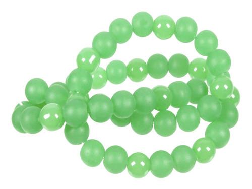 "4mm Polish & Matte Chrysprase Round Beads 15.5"""