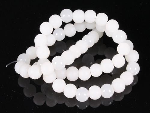 "4mm Polish & Matte White Obsidian Round Beads 15.5"" [4x33]"