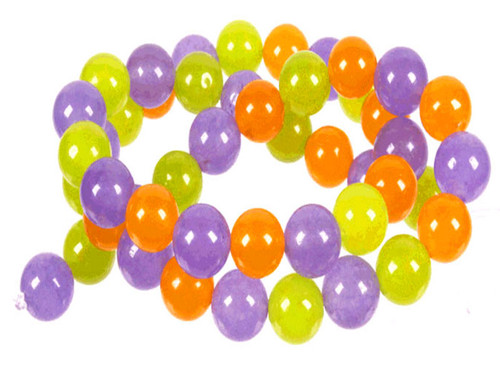 "4mm Yellow Chalcedony, Perodot Quartz & Sky Quartz Round Beads 15.5"" dyed dyed"