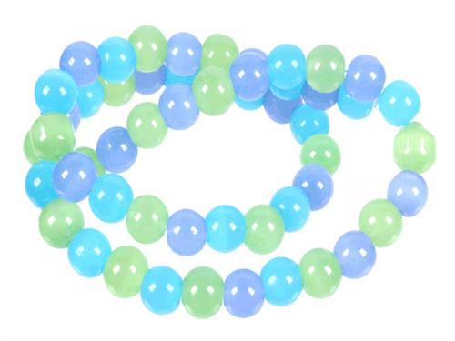 "8mm Chrysprase, Aqua Quartz & Chalcedony Round Beads 15.5"" Natural Dyed [8x32]"