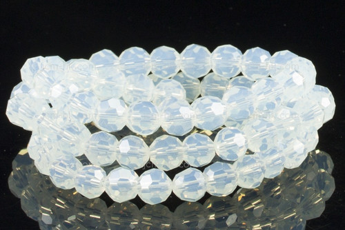 """10mm Moonstone Faceted Round Beads 15.5"""" synthetic"""