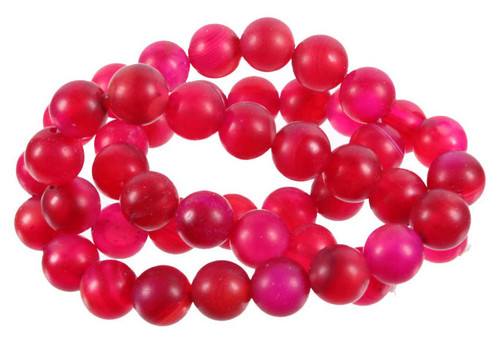 """10mm Matte Rose Agate Round Beads 15.5"""""""