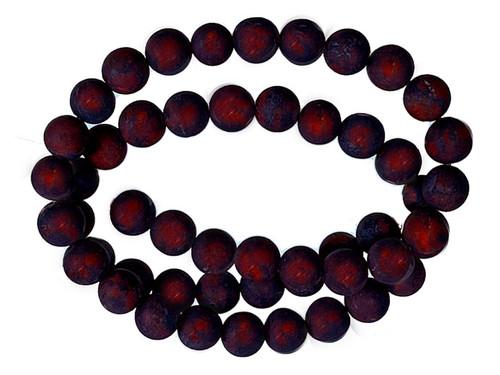 "8mm Matte Poppy Jasper Round Beads 15.5"""