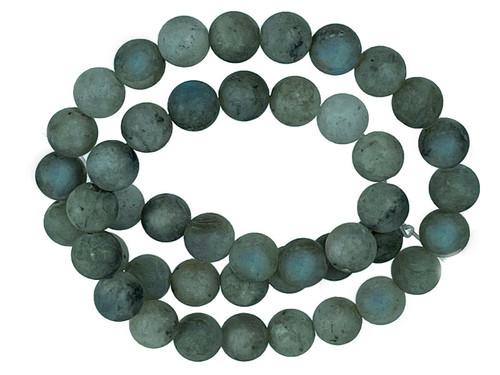 "8mm Matte Labradorite Round Beads 15.5"""