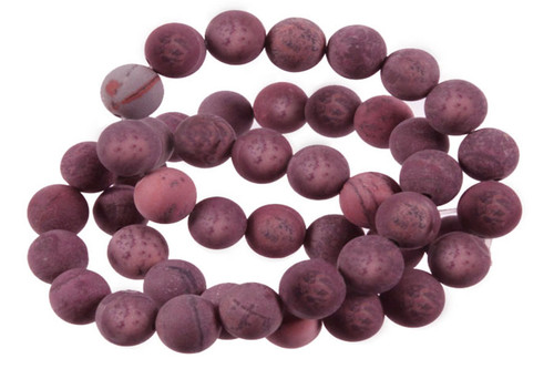 8mm Matte Mexicon Agate Round Beads 15.5""