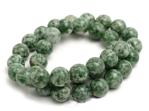 10mm Matte Tree Agate Round Beads 15.5""