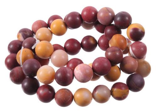 """10mm Matte Mooakite Round Beads 15.5"""""""