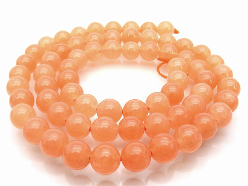 """6mm Peach Quartz Round Beads 15.5"""" [6a10]"""