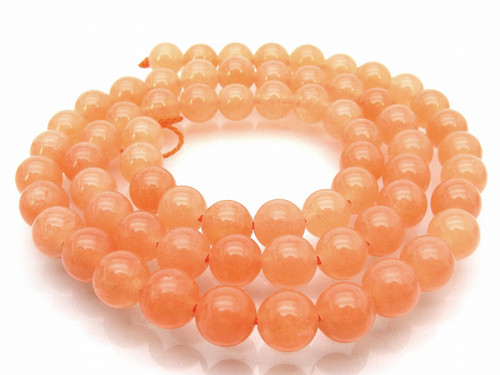"""8mm Peach Quartz Round Beads 15.5"""" [8a10]"""