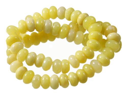 """10mm Olivine Jade Rondelle Beads 15.5"""""""