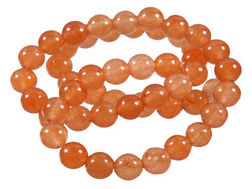 "4mm Red Aventurine Round Beads 15.5"" [4a1a]"