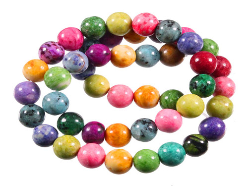"""8mm Mix Seasame Agate Beads 15.5"""" dyed"""
