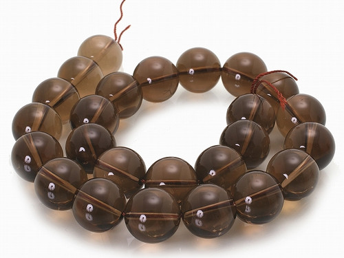 10mm Natural Smoky Crystal Round Beads 15.5""