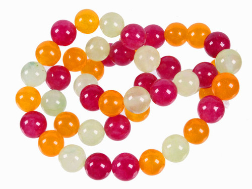 """4mm Mix Jade Round Beads 15.5"""" Natural Dyed [4x40]"""