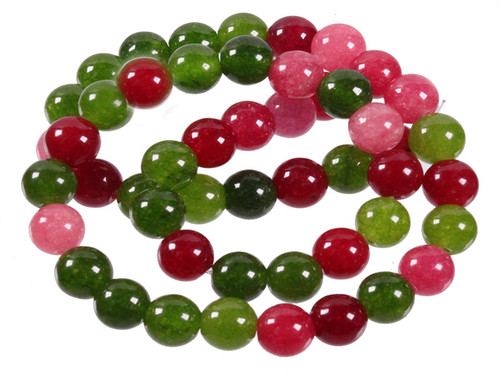 """4mm Mix Jade Round Beads 15.5"""" Natural Dyed [4x43]"""