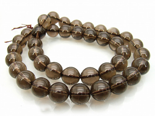"""8mm Natural Smoky Crystal Round Beads 15.5"""""""