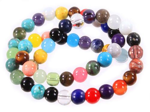 "8mm Mix Stones Round Beads 15.5"" [8x99a]"