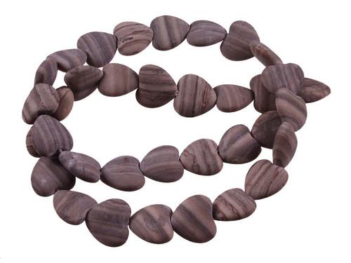 """12mm Matte Zebra Agate Puff Acorn Beads 15.5"""" [s362m]"""