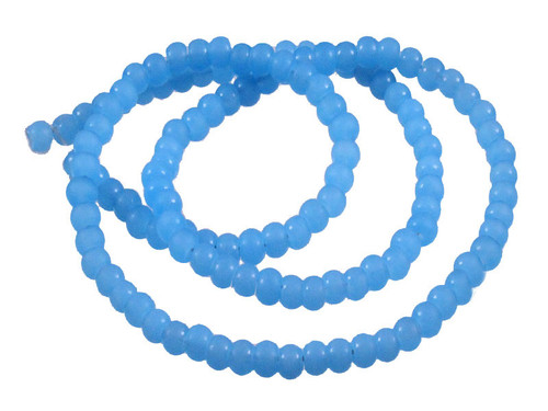 """4mm Matte Chalcedony Rondelle Beads 15.5"""" synthetic"""