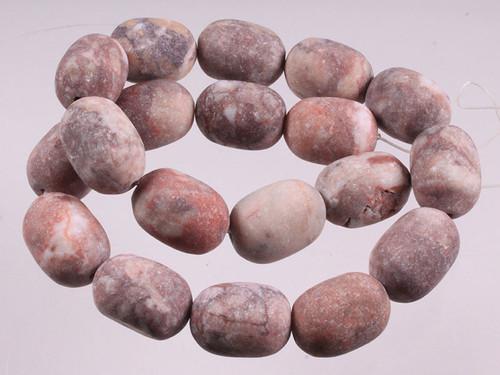 "14x20mm Matte Red Moss Agate Drum Beads 15.5"" [wa119m]"