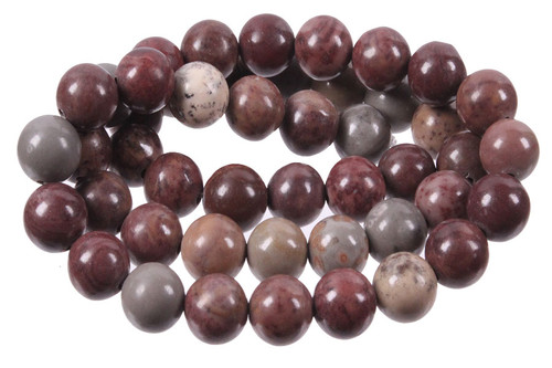 """12mm Mexicon Agate Round Beads 15.5"""""""