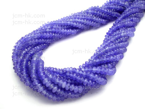 """4mm Sky Agate Faceted Rondelle Beads 15.5"""" dyed"""