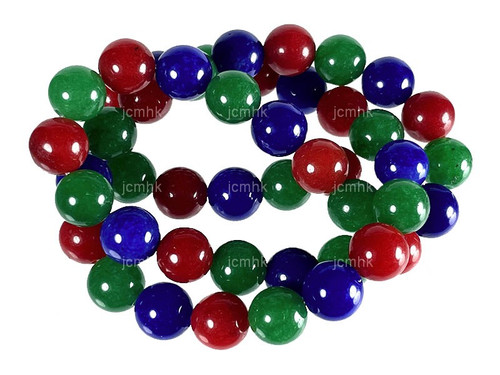 "4mm Mix Jade & Obsidian Round Beads 15.5"" [4x46]"