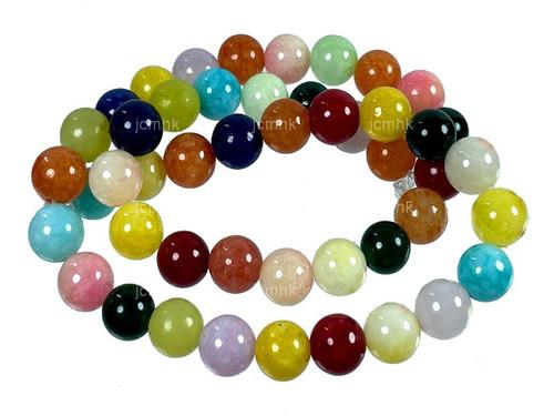 "8mm Mix Jade Round Beads 15.5"" Natural Dyed [8b5x]"