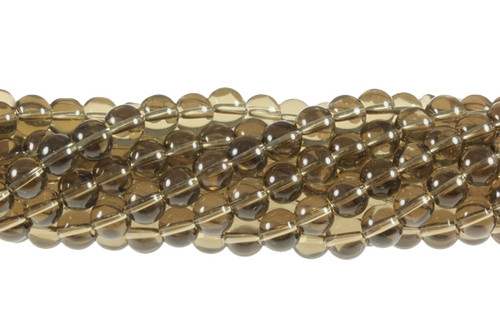 10mm Smoky Topaz Round Beads Approx.32pcs. synthetic