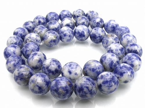 """10mm Denim Lapis Round Beads 15.5"""""""