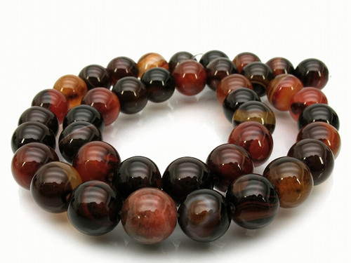 10mm Natural Agate Round Beads 15.5""