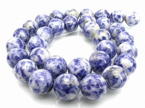 """12mm Denim Lapis Round Beads 15.5"""""""