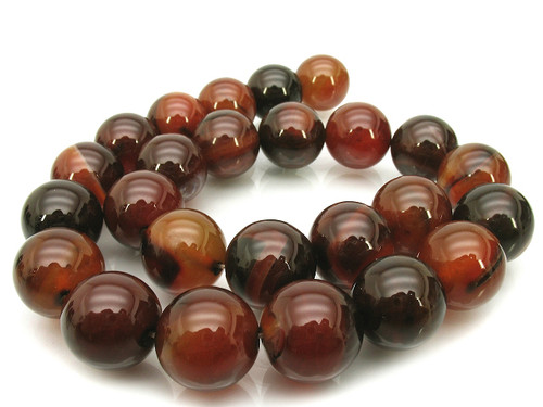 """12mm Natural Agate Round Beads 15.5"""""""