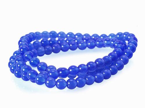 "4mm Turquoise Jade Round Beads 15.5"" dyed [4b75]"
