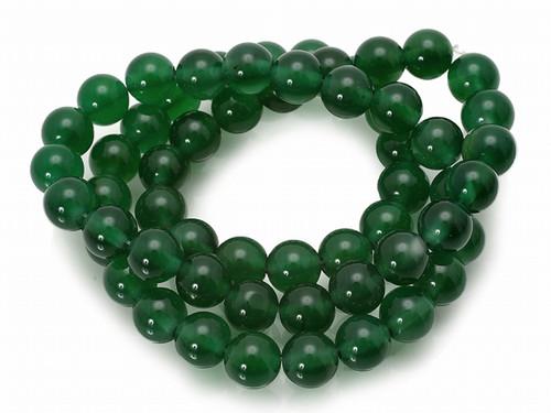 """4mm Malachite Jade Round Beads 15.5"""" dyed [4b77]"""