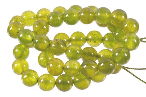 """4mm New Jade Round Beads 15.5"""" dyed. [4c64]"""