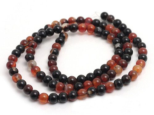 4mm Natural Agate Round Beads 15.5""