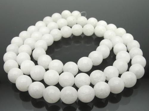 "6mm Snow Jade Round Beads 15.5"" [6b40]"