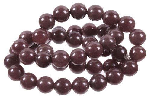 """6mm Plum Jade Round Beads 15.5"""" [6b66]"""