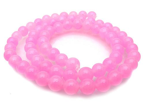 "6mm Pink Jade Round Beads 15.5"" dyed [6c60]"