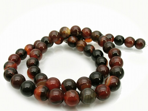 """6mm Natural Agate Round Beads 15.5"""""""