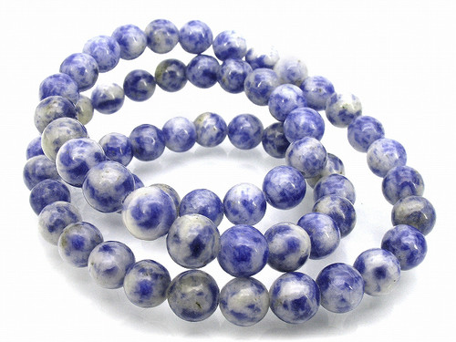 8mm Denim Lapis Round Beads 15.5""