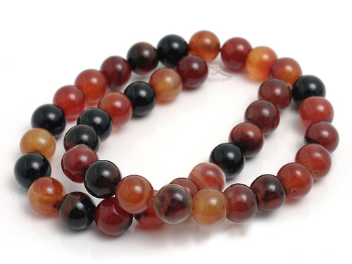 """8mm Natural Agate Round Beads 15.5"""""""